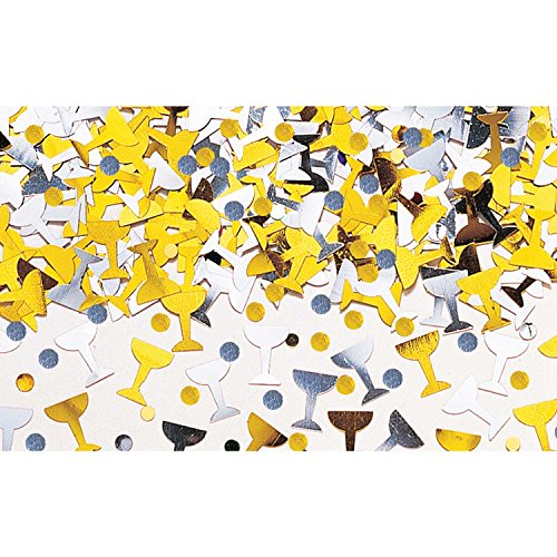 Amscan 9900850 14 g confettis métalliques Champagne Toast