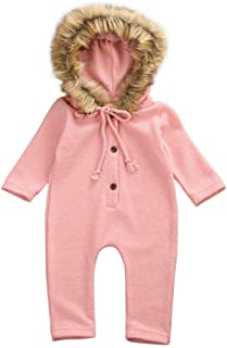 Kaniem Infant Baby Girls Boys Clothes Set Stripe African Hooded Romper Jumpsuit Outfits