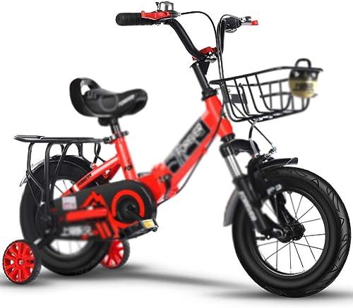 Todo en alta calidad y bajo precio. Axdwfd Infantiles Bicicletas Bicicleta for Niños con Ruedas Ruedas Ruedas de Entrenamiento, Bicicleta de 12 14 16 18 Pulgadas for niñas y Niños, Amortiguador con Amortiguador de choques Plegable 2-13 años  los clientes primero
