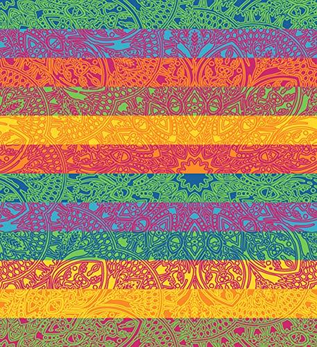SECANETA Riesiges Strandtuch aus 100% Baumwolle, 210 x 230 cm Mandala Doppelte Größe.