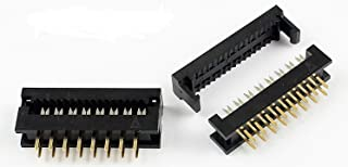 Connectors Pro 25-Pack IDC 2X8 16 Pins 2.54mm Male Dual Row Transition Plugs for 1.27mm Flat Ribbon Cable (FD-16P-25PK)