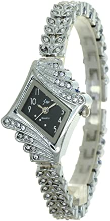 Womens Jewellery Bangle Designer Bracelet Clasp Crystal Mounted Cartoon Japan Quartz Analog Fashion Stylish Casual Luxury Business Dress Watches Wrist Watch Girls Gifting Timepiece