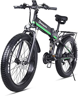 sheng milo 26 Pollici Fat Tire Electric Bike 1000W 48V Snow