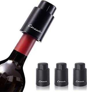 Pompe per Il Risparmio del Vino con Vuoto Durevole in Silicone Tappi per Bottiglie in Acciaio Inossidabile Goulian Tappi per Vino