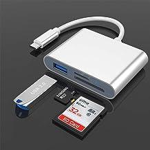 Rocketek Lector de Tarjetas SD USB C, SD Adaptador de Lector de Tarjetas Micro SD OTG USB a Tipo C Adaptador Lector de Tar...
