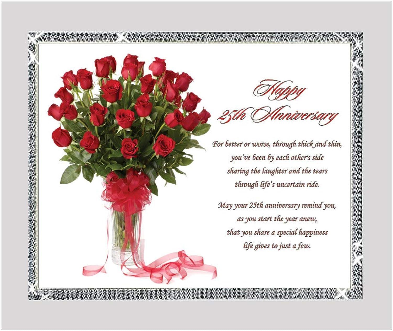 25th Wedding for the Twenty-Fifth Couple - 8x10 Elegant Frame