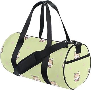 children/'s gym bag festival bag with inner fabric cats animals black beige Gym bag gymbag