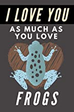 I Love You As Much As You Love Frogs: Blank Lined Journal Notebook Frog Gift for Frog Lovers