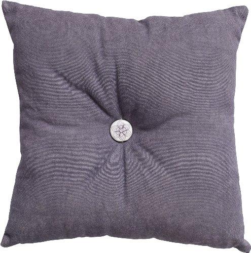 Nordal 2er-Set, Kissen Cushion mit Keramikknopf, lila