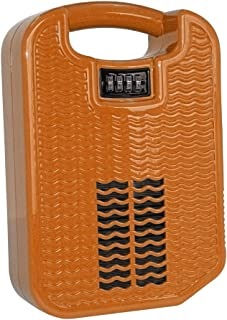 beachsafe Orange Portable Safe Box for Travel with Built-in Charger, Securing Cable, and Internal Cooling Fan (Oh So Orange)