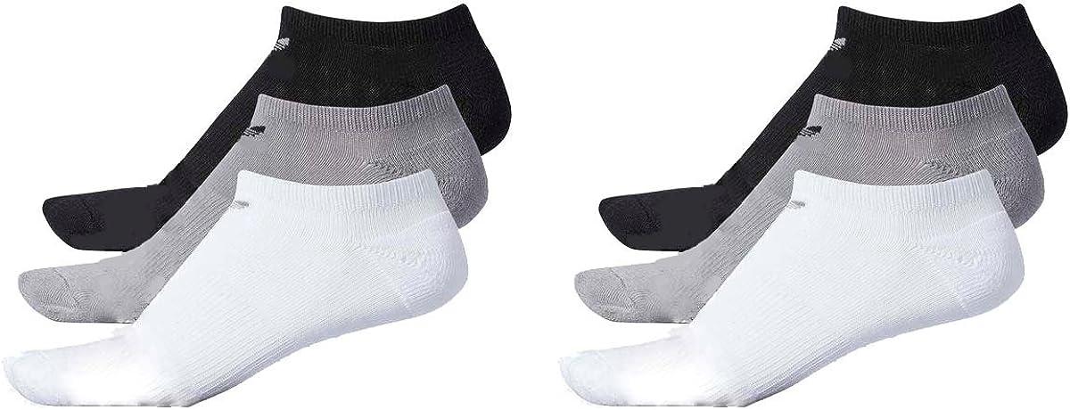 Womens Popularity Adidas Originals No Show New Orleans Mall Socks 6 Grey Pair White On Black