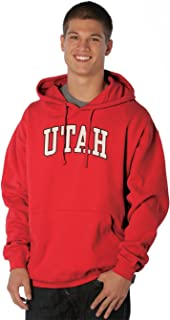 NCAA Utah Utes Peerless Nuvola Cotton Sueded Hooded Sweatshirt