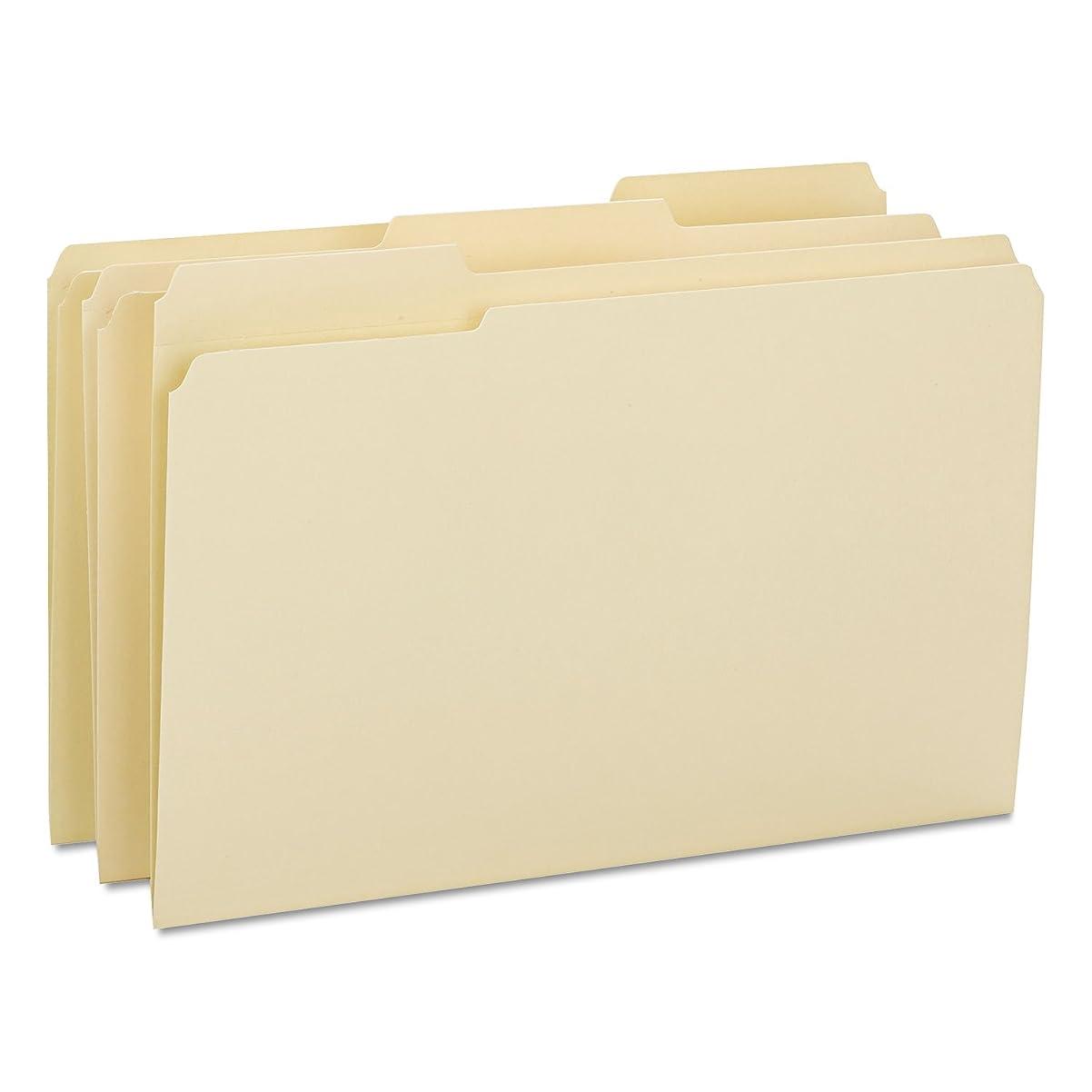 申し込むワードローブコメントSmead 15434 ファイルフォルダ 1/3カット 強化タブ リーガル マニラ 100箱