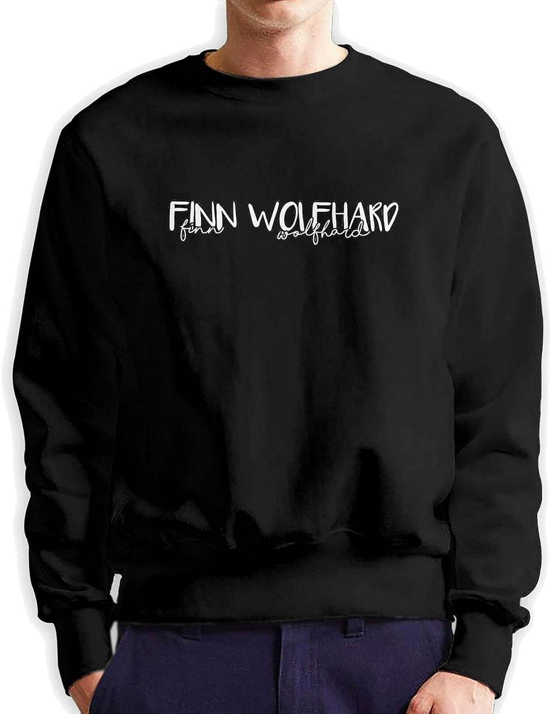 Finn Wolfhard Men'S Long Sleeve Printed Sportswear Cotton Black