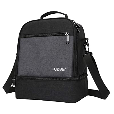 Insulated Lunch Box, EGRD Lunch Bag with Double...