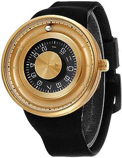 Unique Men's Watches, Fashion Silicone Strap Quartz Sport Wristwatch, Cool Big Face Watch for Men Waterproof