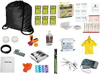 3 Day Emergency Sack Survival Kit Food Water Blanket Whistle Flashlight 1st Aid 72 Hr