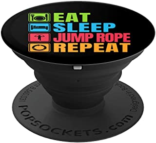 Eat Sleep Jump Rope Repeat - PopSockets Grip and Stand for Phones and Tablets