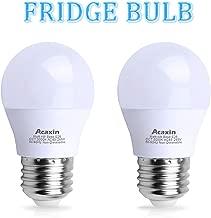 LED Refrigerator Light Bulb 40Watt Equivalent, Acaxin Waterproof Frigidaire Freezer LED Light Bulb IP54, 4W 120V E26 Daylight White 5000k 400 Lumen, Energy Saving A15 Appliance Fridge Bulbs, 2 Pack