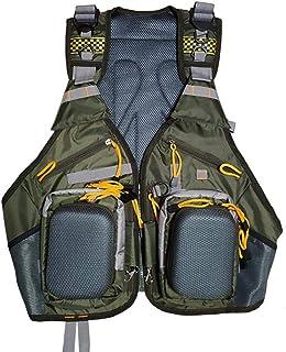 RANRANHOME Fly Fishing Vest Pack, justerbara västar med flera fickor med hårt skal förvaring flugbete väska enkel andnings...