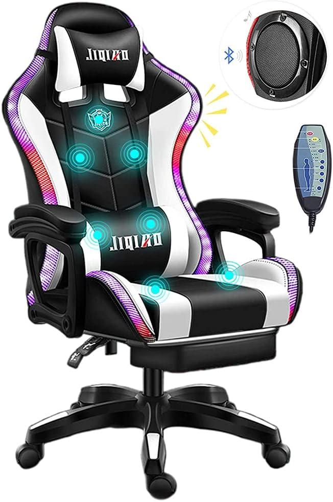 Attention brand JW-YZWJ Gaming Brand new Chair Ergonomic Massage Lights Office LED
