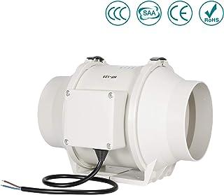 Ventilador de escape, HG Power 125mm Ventilador Extractor de Aire en Línea con Motor de Dos-velocidades para Oficina , Hotel , Baño - 284m³/h Ventilación (125mm)