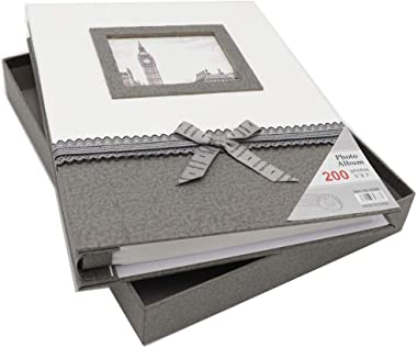 ZZKOKO Photo Album 5x7, Wedding Photo Albums Holds 200 Horizontal 5by7 Photos, 2 Per Page Family Album Gift for Mother Father