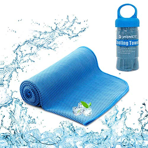YQXCC Cooling Towel (120x30 cm) Ice Towel for Neck, Soft Breathable Chilly...