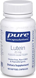 Pure Encapsulations - Lutein 20 mg - Hypoallergenic Antioxidant Support for Healthy Visual Function - 60 Softgel Capsules
