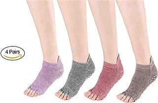 Yubi dedos caballero con masaje tachas blanco yoga calcetines masaje calcetines knitido