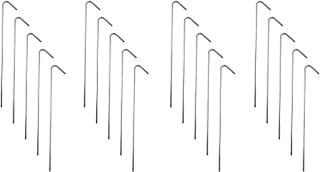 """Super Z Outlet 9"""" Galvanized Non-Rust Anchoring Tent Stakes Pegs for Outdoor Camping, Soil Patio Gardening, Canopies, Land..."""