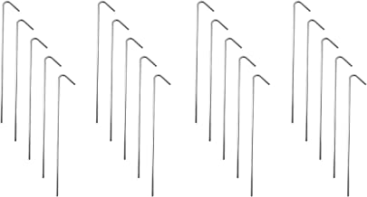 """Super Z Outlet 9"""" Galvanized Non-Rust Anchoring Tent Stakes Pegs for Outdoor Camping, Soil Patio Gardening, Canopies, Landscaping Trim (20 Pack)"""