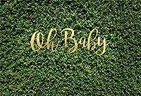 新しい7x5ftああベビーグリーンの葉の背景の男の子の女の子のベビーシャワー写真の背景春のテーマ幼児新生児幼児の肖像画フォトブース小道具デジタル壁紙