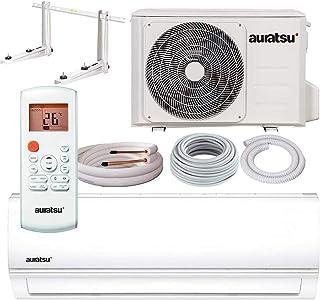 Aire acondicionado de Auratsu para interior y exterior, clase energética de refrigeración/calefacción, A++/A+, Blanco