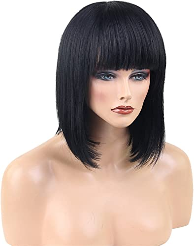 ventas en línea de venta Baosity Fashion Peluca de Pelo Humano Verdadero Natural negro Corto Corto Corto con Cap para mujeres - I  soporte minorista mayorista