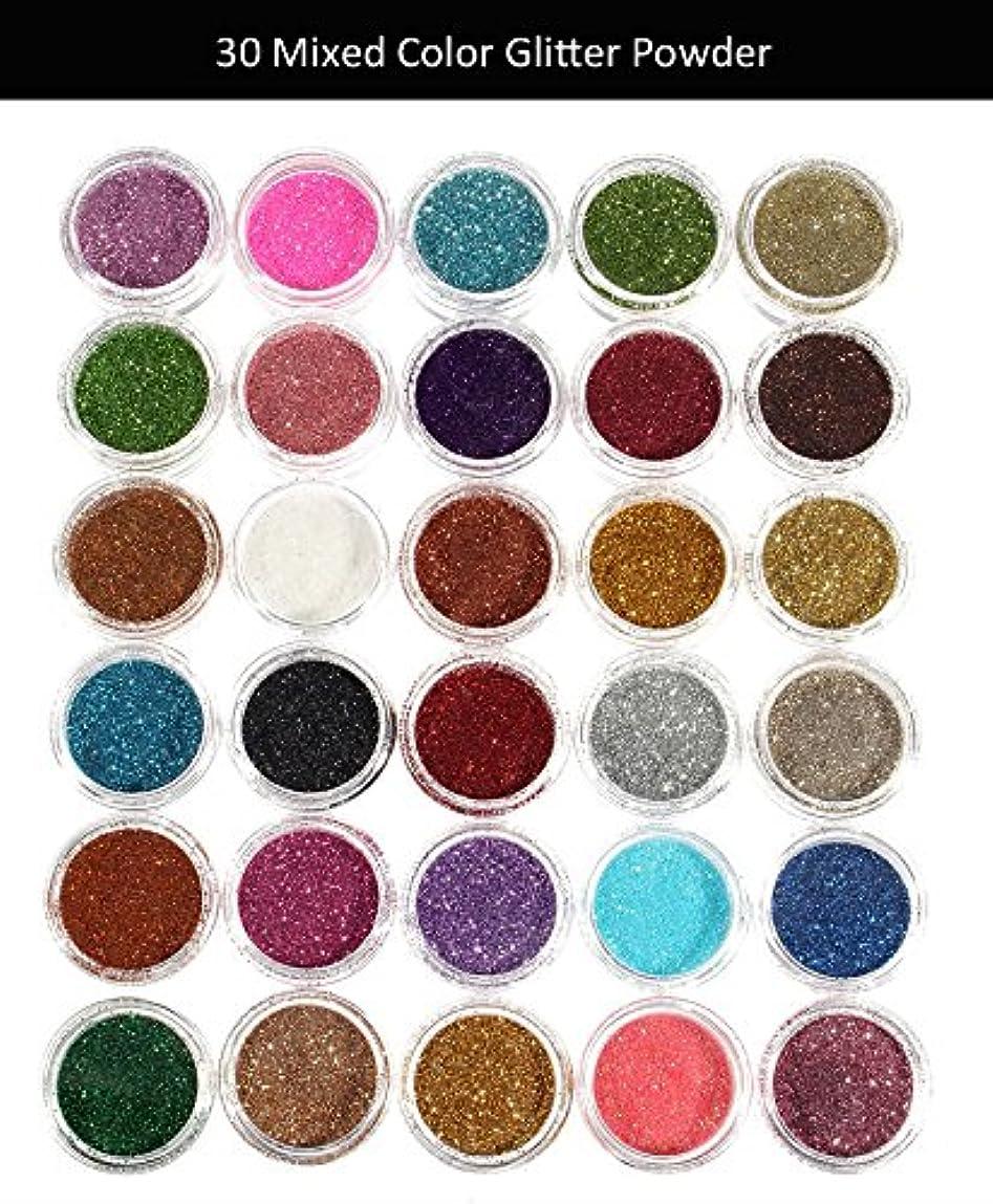 高架湾オリエンタル30pcs Mixed Colors Powder Pigment Glitter Mineral Spangle Eyeshadow Makeup Cosmetics Set Make Up Shimmer Shining Eye Shadow 2018