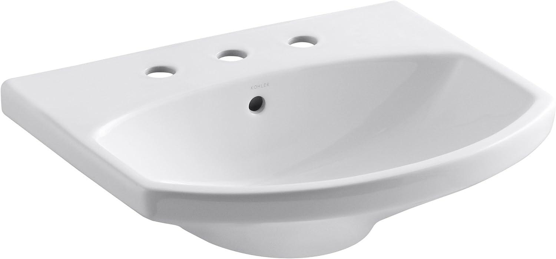 KOHLER Seattle Mall K-2363-8-0 Chicago Mall Cimarron Bathroom White Basin Sink