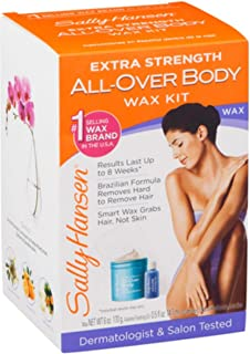 Sally Hansen Extra Strength All-Over Body Wax Hair Removal Kit 1 ea (Pack of 4)