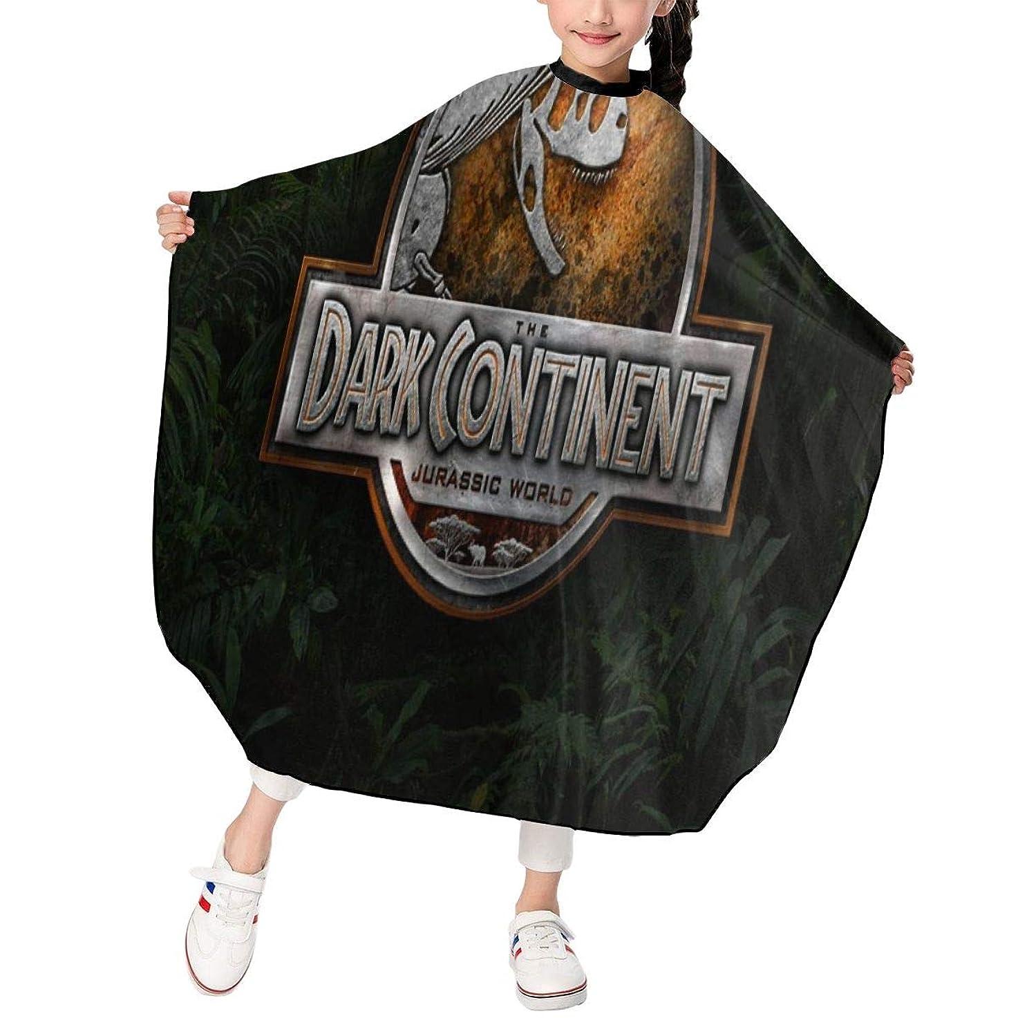 彼先祖間違えた最新の人気ヘアカットエプロン 子供用ヘアカットエプロン120×100cm ジュラ紀恐竜Jurassic World 柔らかく、軽量で、繊細なポリエステル生地、肌にやさしい、ドライ
