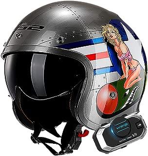 57-61cm Unisexo Transpirable C/álido Unisexo Hombres Mujeres Adulto M-XL LALEO Personalidad Personalizado Mech Robot Casco Moto Modular Integral Negro Verde