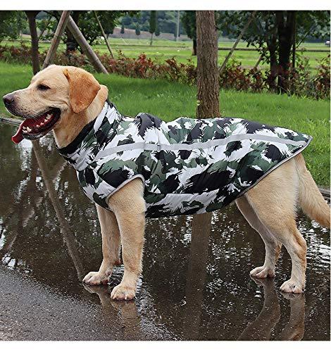 3MNSCD Große Hundekleidung, Camouflage-Hundejacke, Mantel für große Hunde, warme Winterweste, niedliches Hunde-Outfit, Kostüme für mittelgroße und große Hunde, Tarnmantel