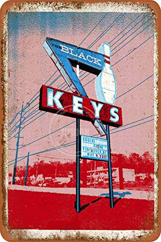Tonight's The Black Keys Tin/Metal Style Street Poster Sign Garage Club Bar Diner Family Farmhouse Outdoor Decoration, 8x12 Inche