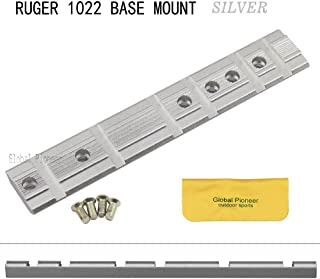 RUGER 1022 10/22 BASE SILVER RIFLE SCOPE MOUNT