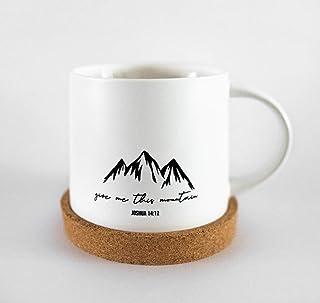 Bible Verse Mug with Coaster Set Give me this Mountain Christian Inspirational Coffee Tea Mugs are Perfect for birthday gi...
