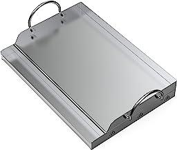 Onlyfire piastra BBQ universale plancha in Acciaio inossidabile per Barbecue a carbonella, a Gas e altri, rettangolare, 51...