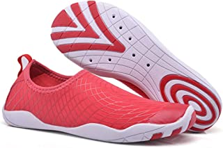 LUKEEXIN Water Sport Beach Shoes Barefoot Diving Snorkeling Wading Shoes for Women Men Kids