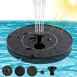 ANEAR Solar Powered Fountain Pump, Bird Bath Solar Water Fountain with 4 Water Styles by 4 Nozzle, Free Standing Floating for Bird Bath, Garden, Patio, Pond, Pool, Outdoor (1.4W)