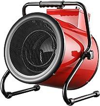 Calefactor Industrial, Termoventilador Portátil 380V/5KW,Tubo Calefactor Eléctrico De Acero Inoxidable,Ajuste de Potencia de 3 Velocidades,para Fábricas, Invernaderos, Granjas