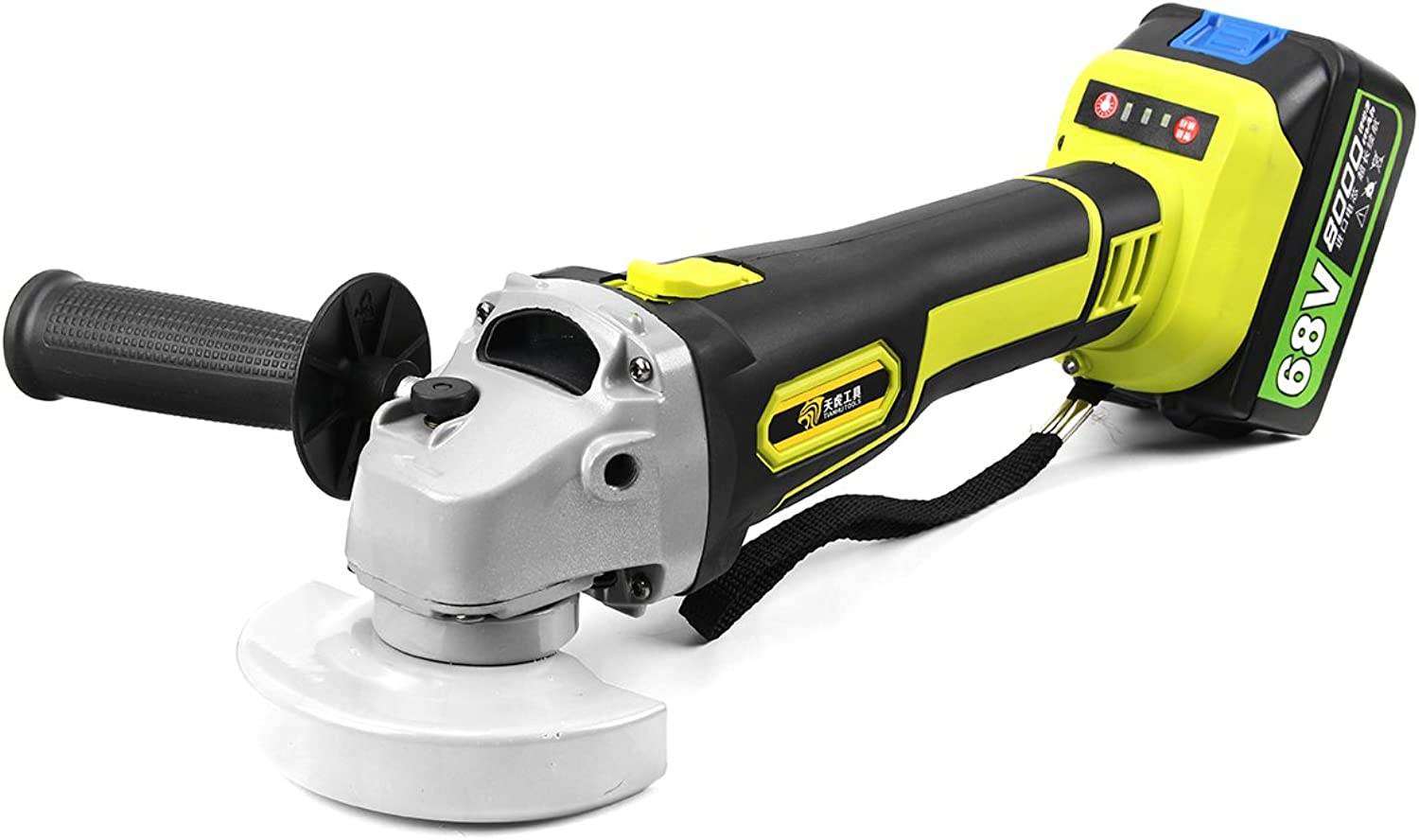 HITSAN 68V 8000mAh Rechargable Cordless Brushless Liion Angle Grinder 100mm One Piece