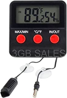 Easy to Read Reptile Tank / Egg Incubator Digital Thermometer / Hygrometer Measure your Temperature and Humidity, push of a button view pets room temp and humidity level